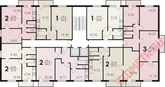 планировка квартир ii-18