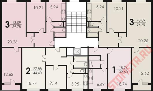 Хрущевские панельные, кирпичные и блочные серии домов