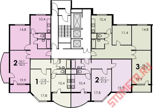 планировка квартир КОПЭ-М-