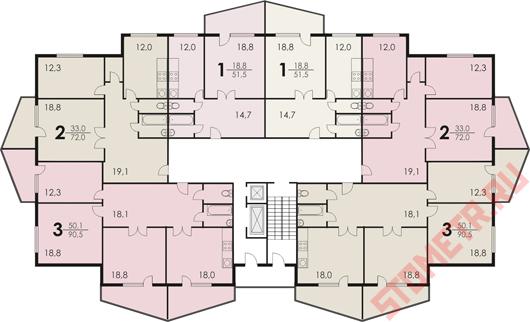 Дизайн п44к Трешка в африканском стиле в доме П-44